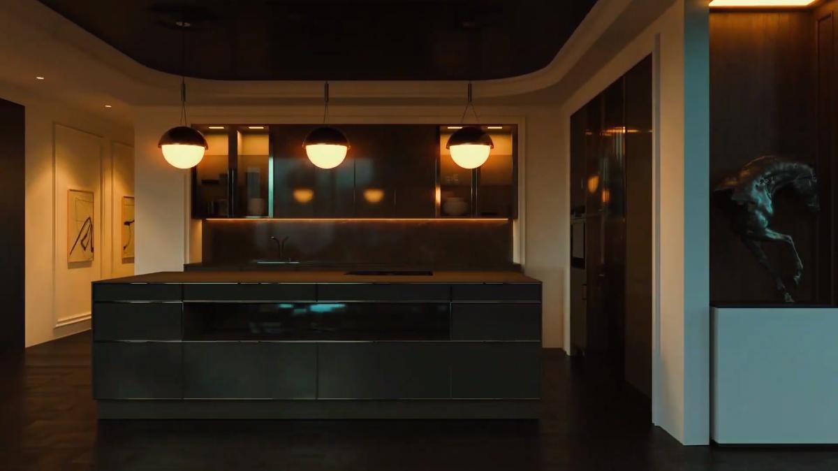 3D Walkthrough Screenshot for a Kitchen