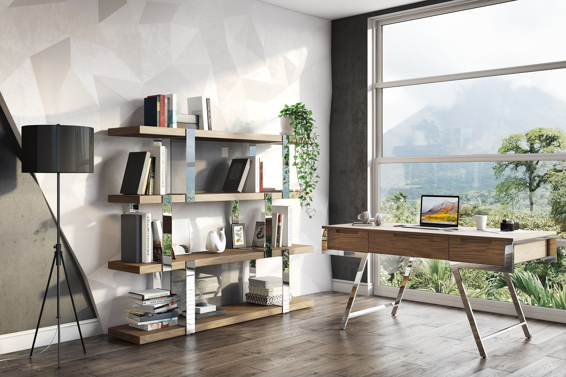 3D Visualization of Home Office Furniture in Context