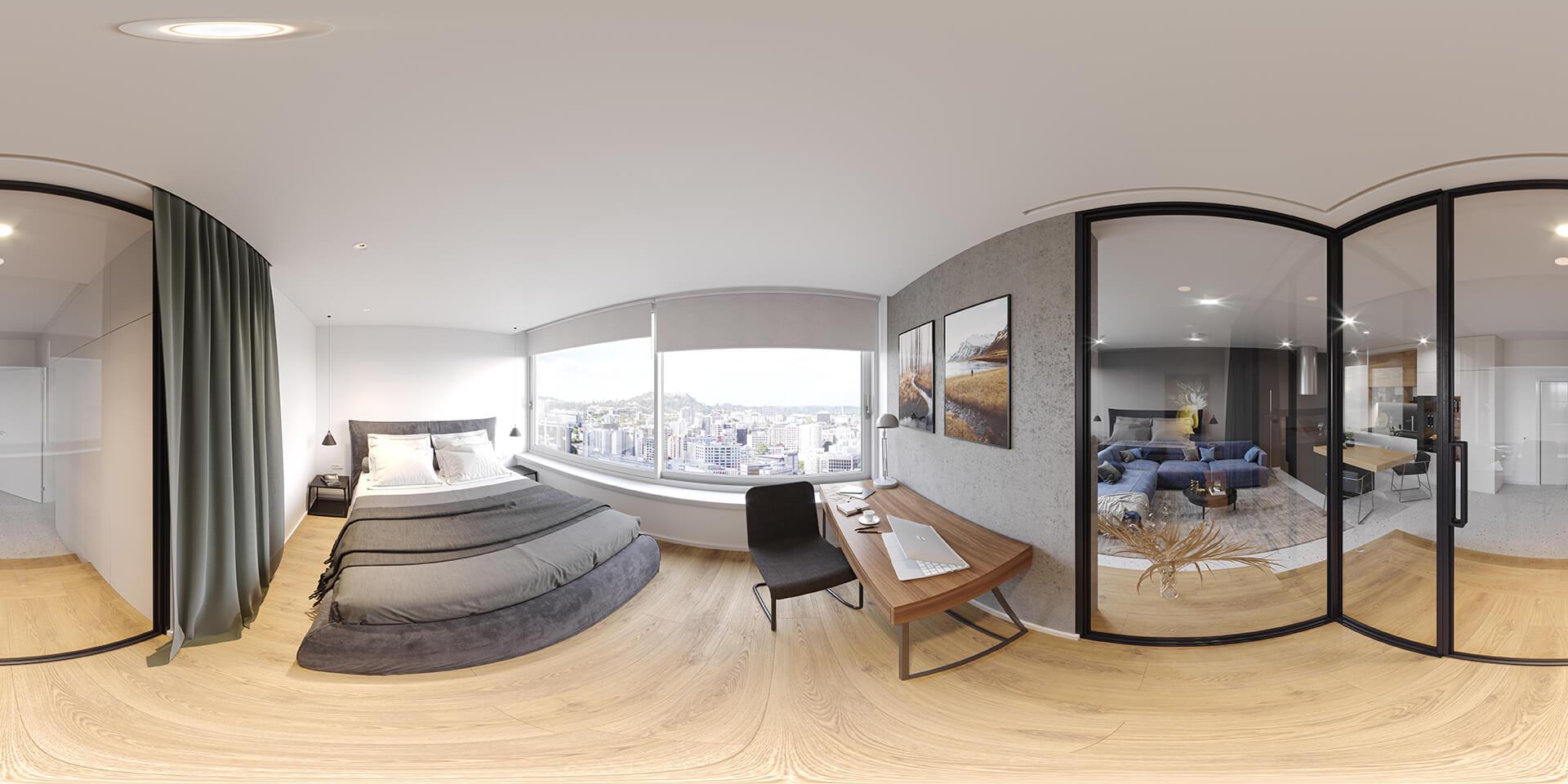 Viewing Virtual Tours of Houses in Fisheye Mode