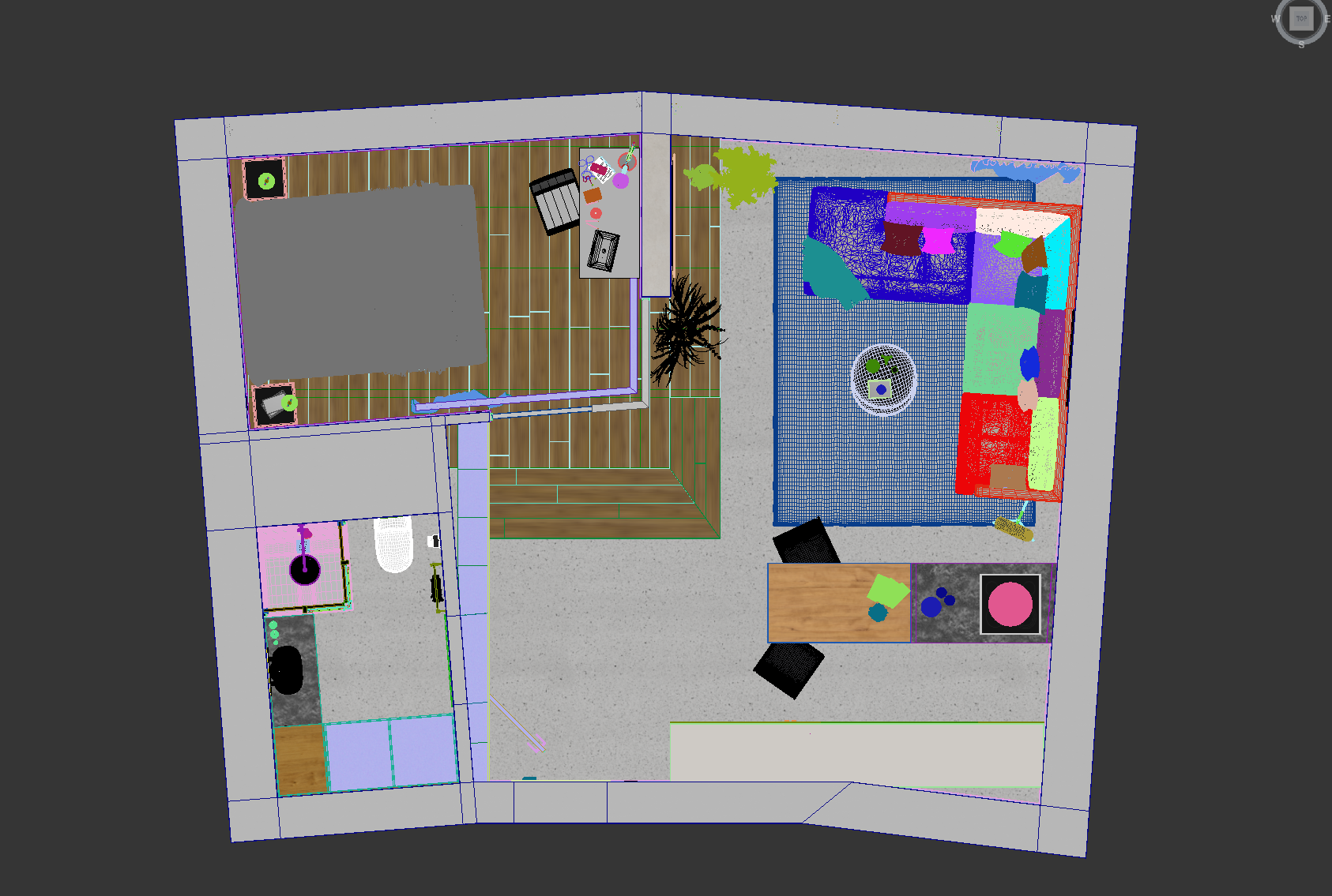 Screenshot of a Draft Interior in 3Ds Max