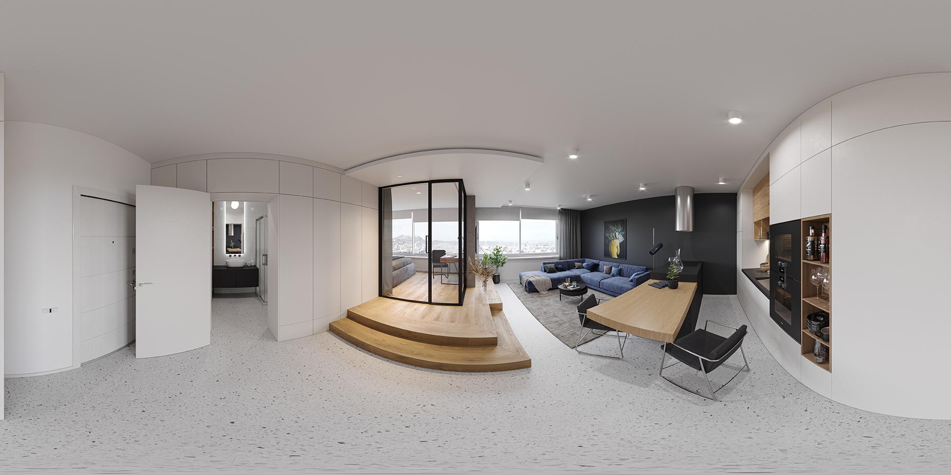 2D Panoramic Image of an Apartment
