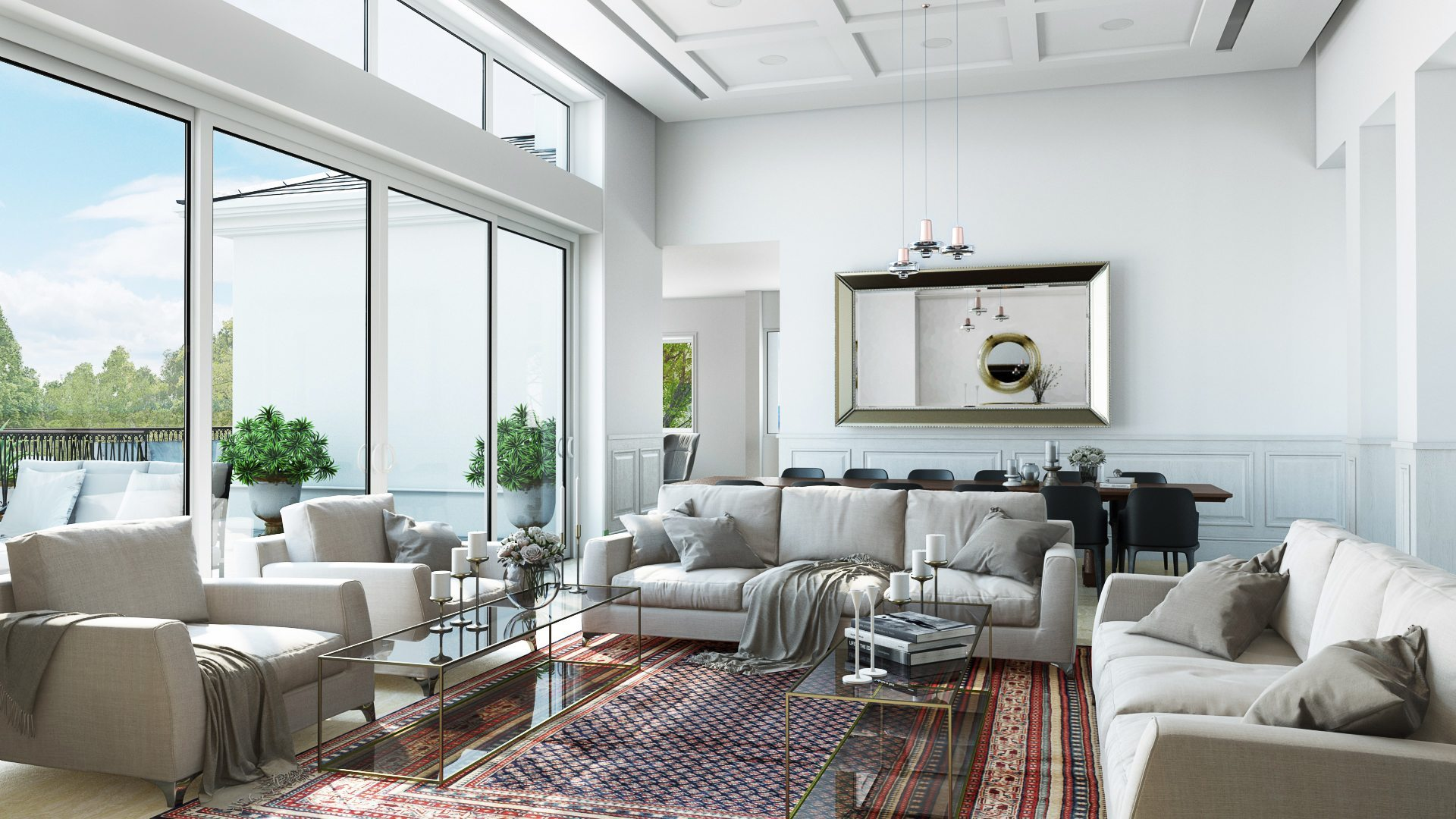 Living Room Rendering 10 Interiors Visualized By Archicgi
