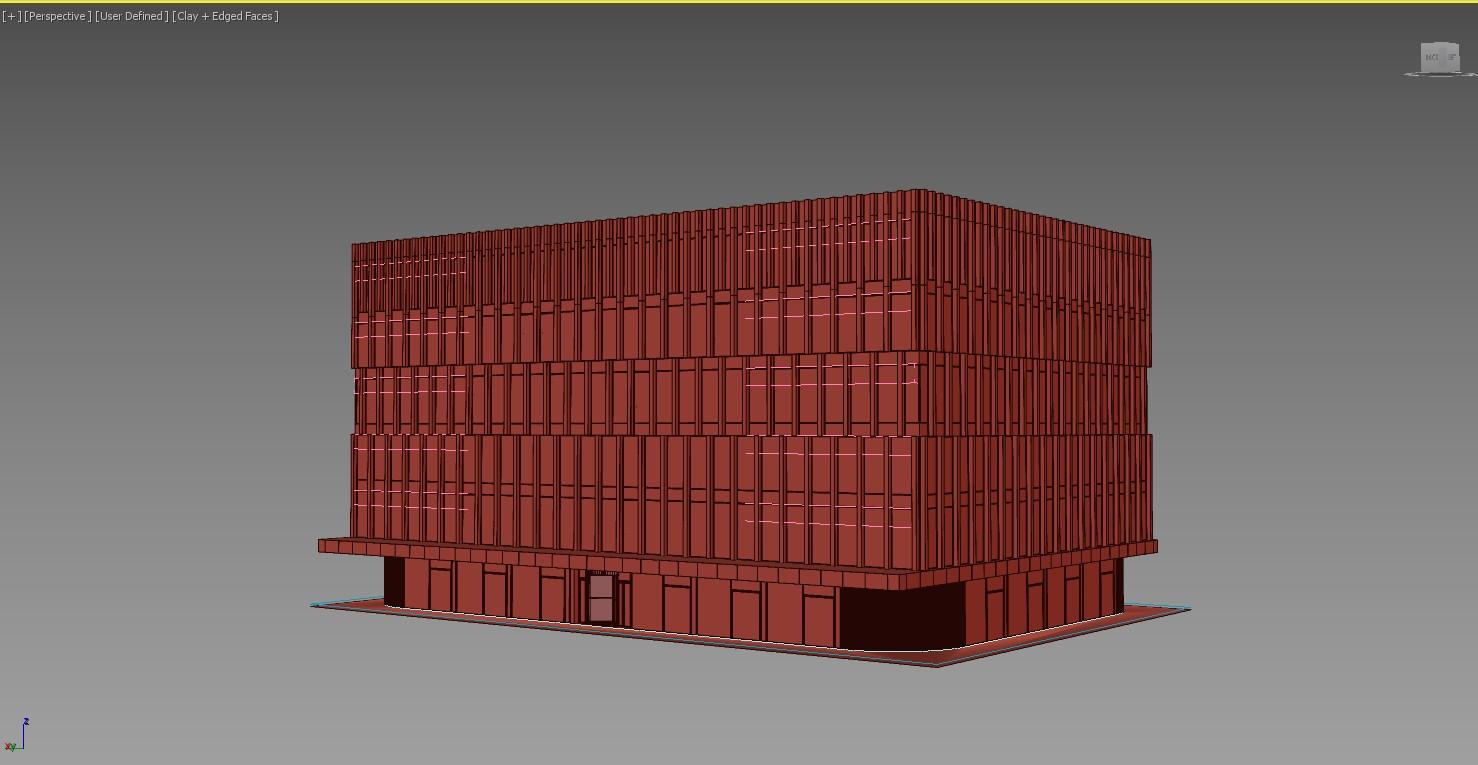 Photoreal 3D Model for a Facade
