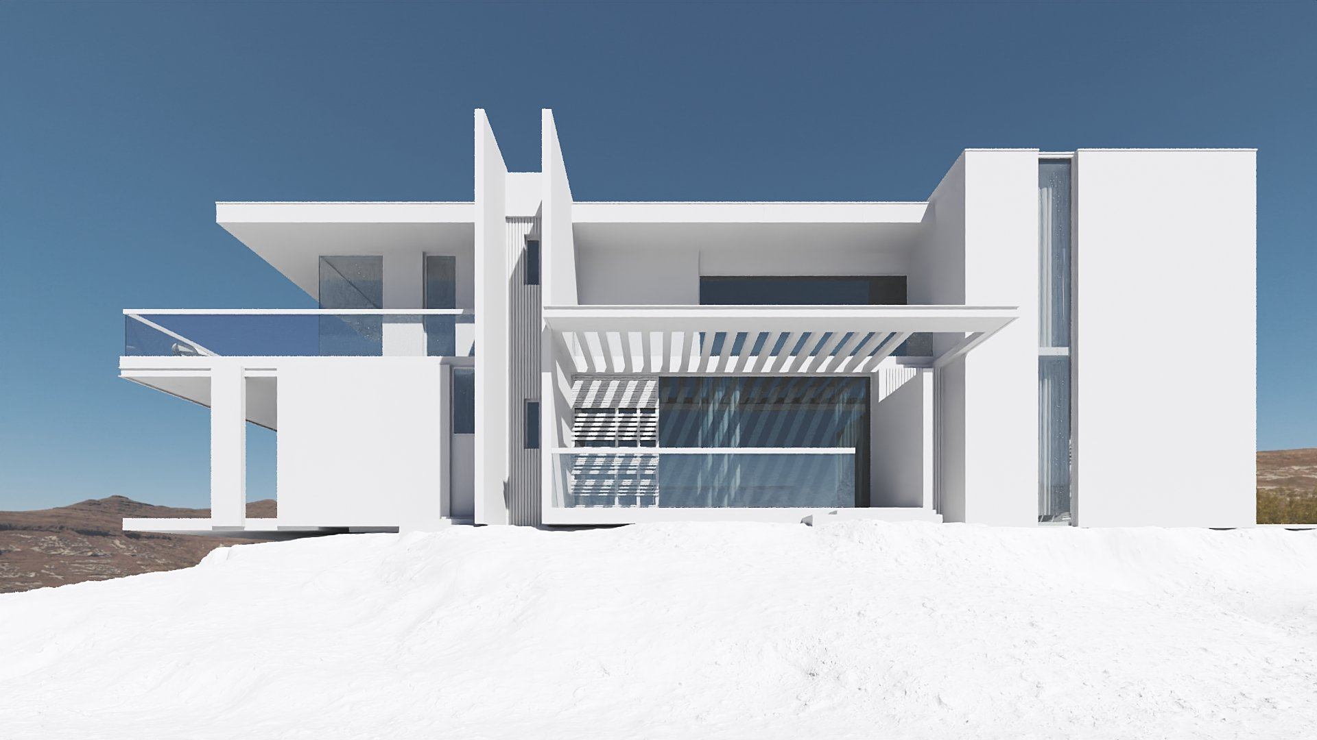CG Model of the Realistic Architectural Rendering Scene