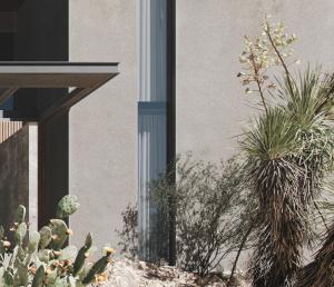 Realistic Facade Stucco in the Villa Rendering