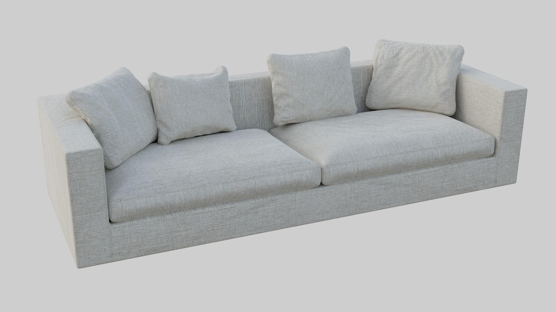 Low-Poly 3D Model of a Cozy Sofa