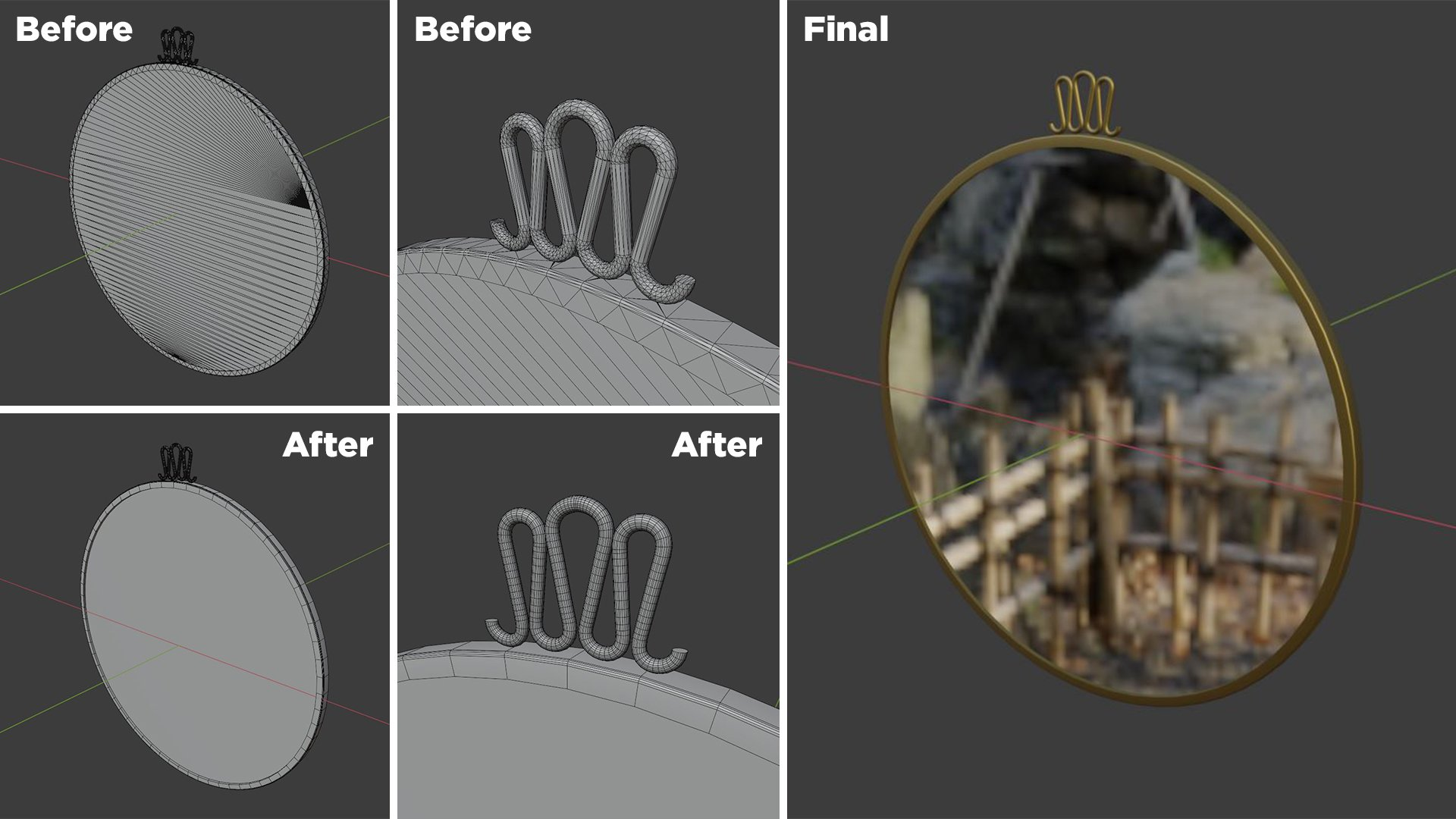 3D Modeling Process with Retopology