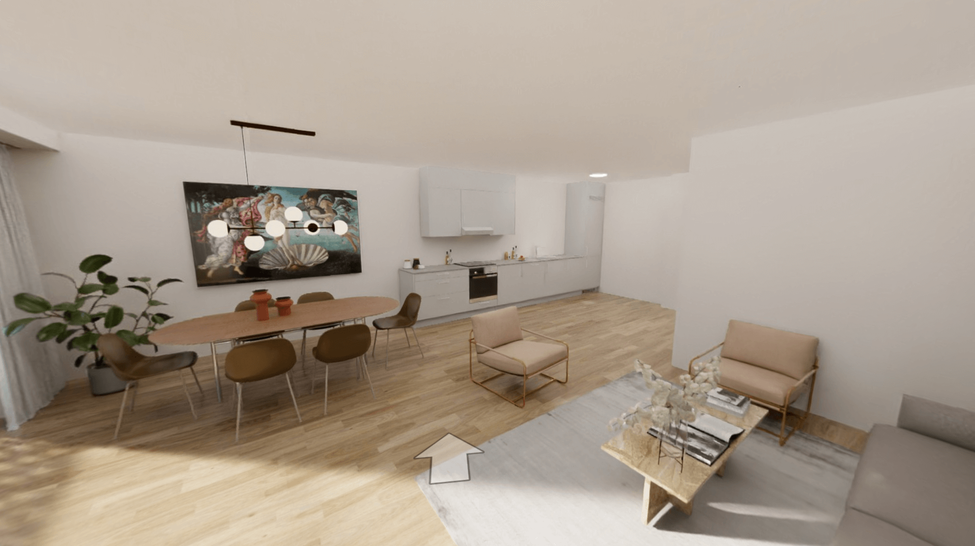 Automatically Visualized 3D Virtual Tour