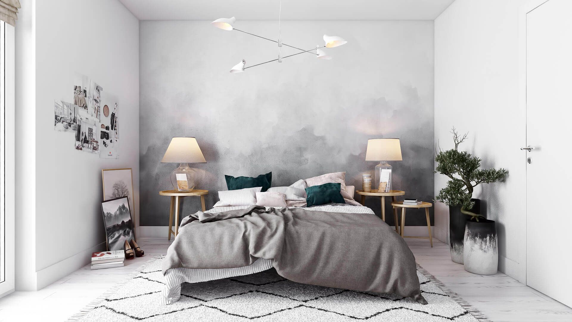 Photorealistic 3D Visualization for a Stylish Bedroom Design