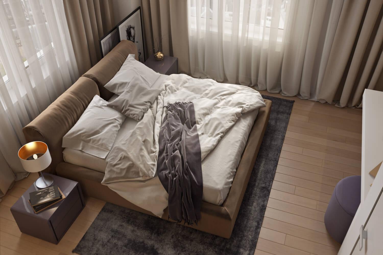 Top View of a Cozy Bedroom
