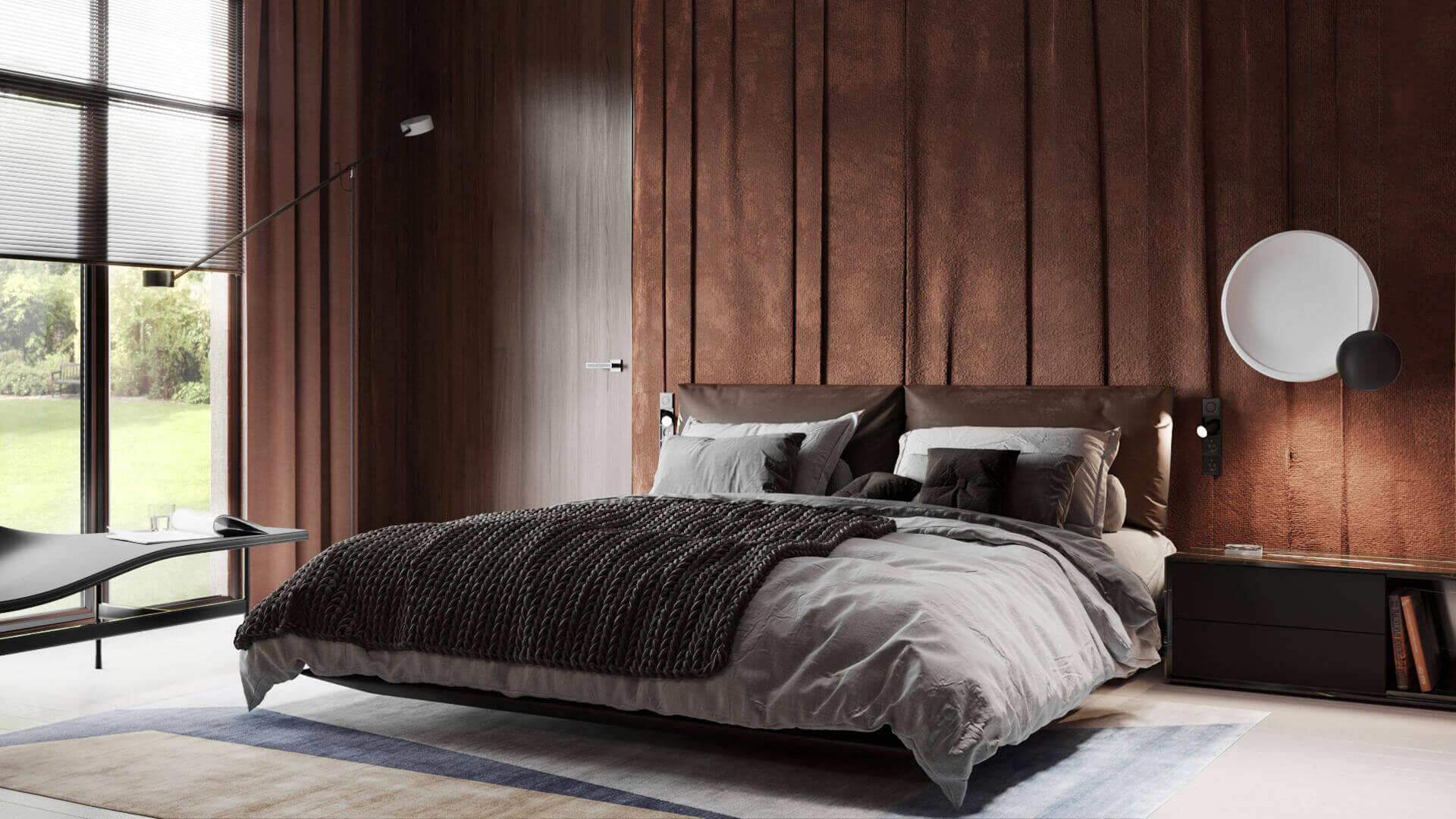 Photorealistic CGI to Show Bedroom Finishes and Textiles Selection