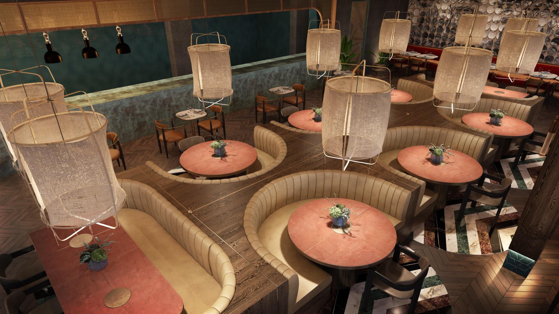 3D Rendering for a Restaurant Design