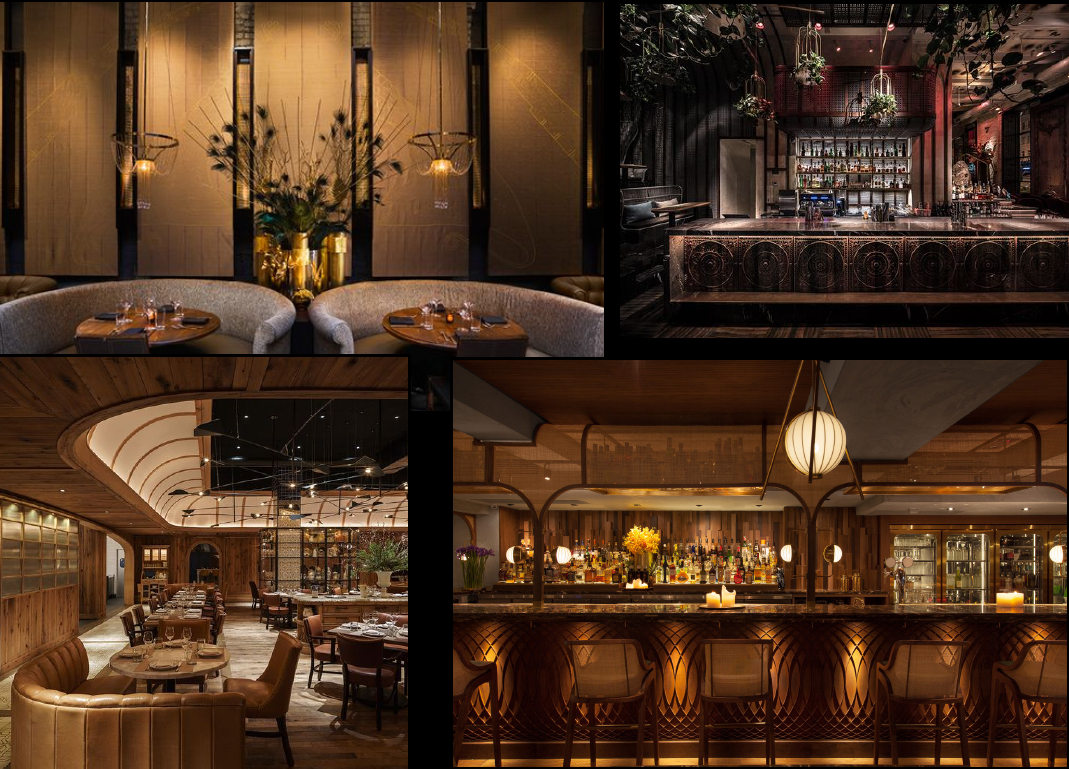 References for a Restaurant's Lighting and Mood