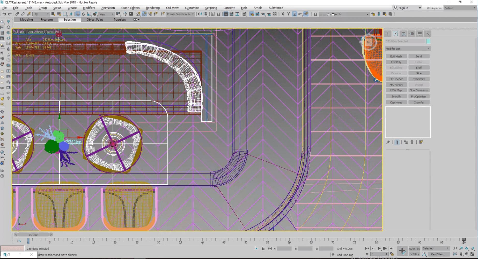 Setting the 3D Scene for Restaurant Rendering