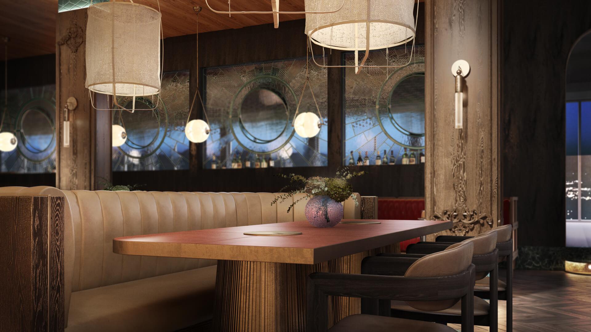 Preliminary Restaurant 3D Rendering Results