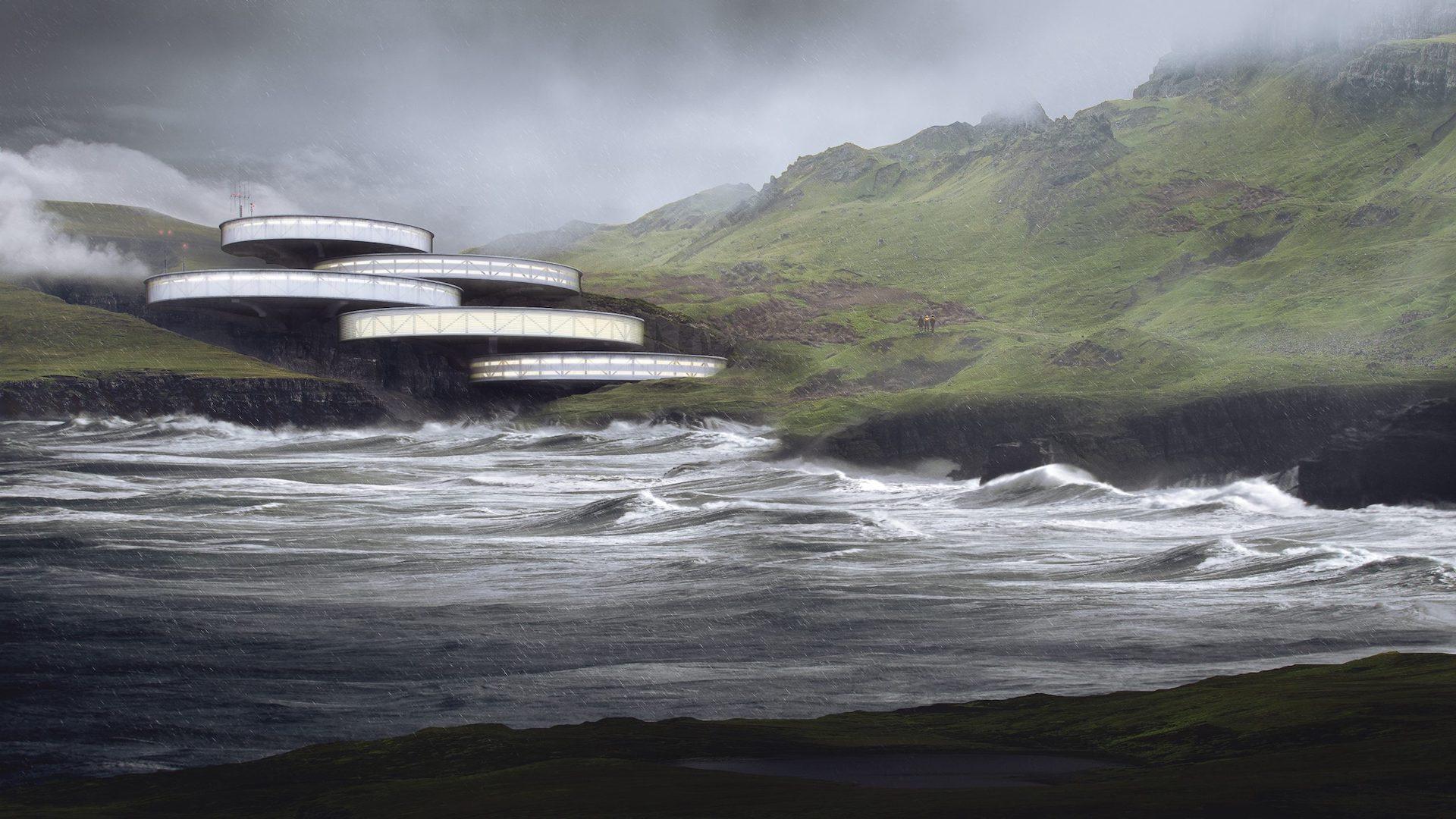Atmospheric 3D Visualization for a Building Complex Design