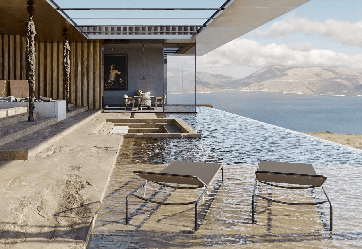 3D Modeling and Rendering for a Terrace