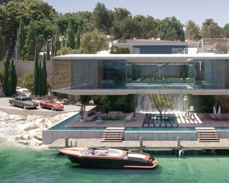 3D Villa Design Rendering for Architectural Presentation