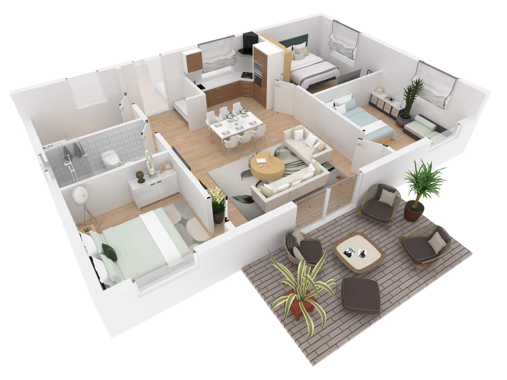 3D Floor Plans for Realtors for Online Ads