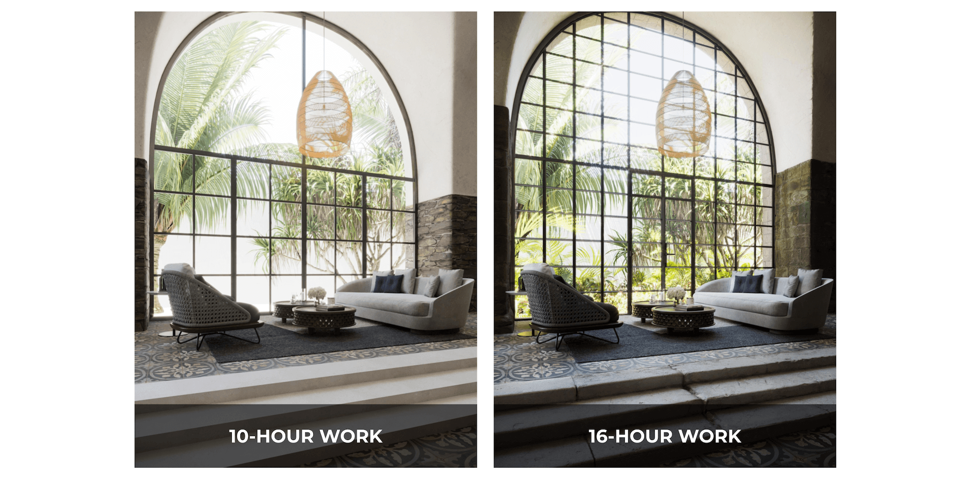 3D Render Quality Difference with Different Timeframes