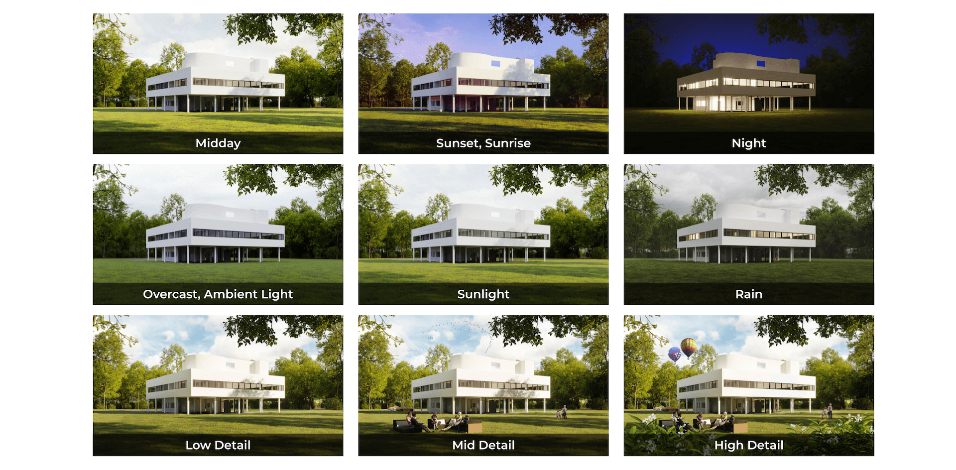 Exterior Lighting and Atmosphere Options