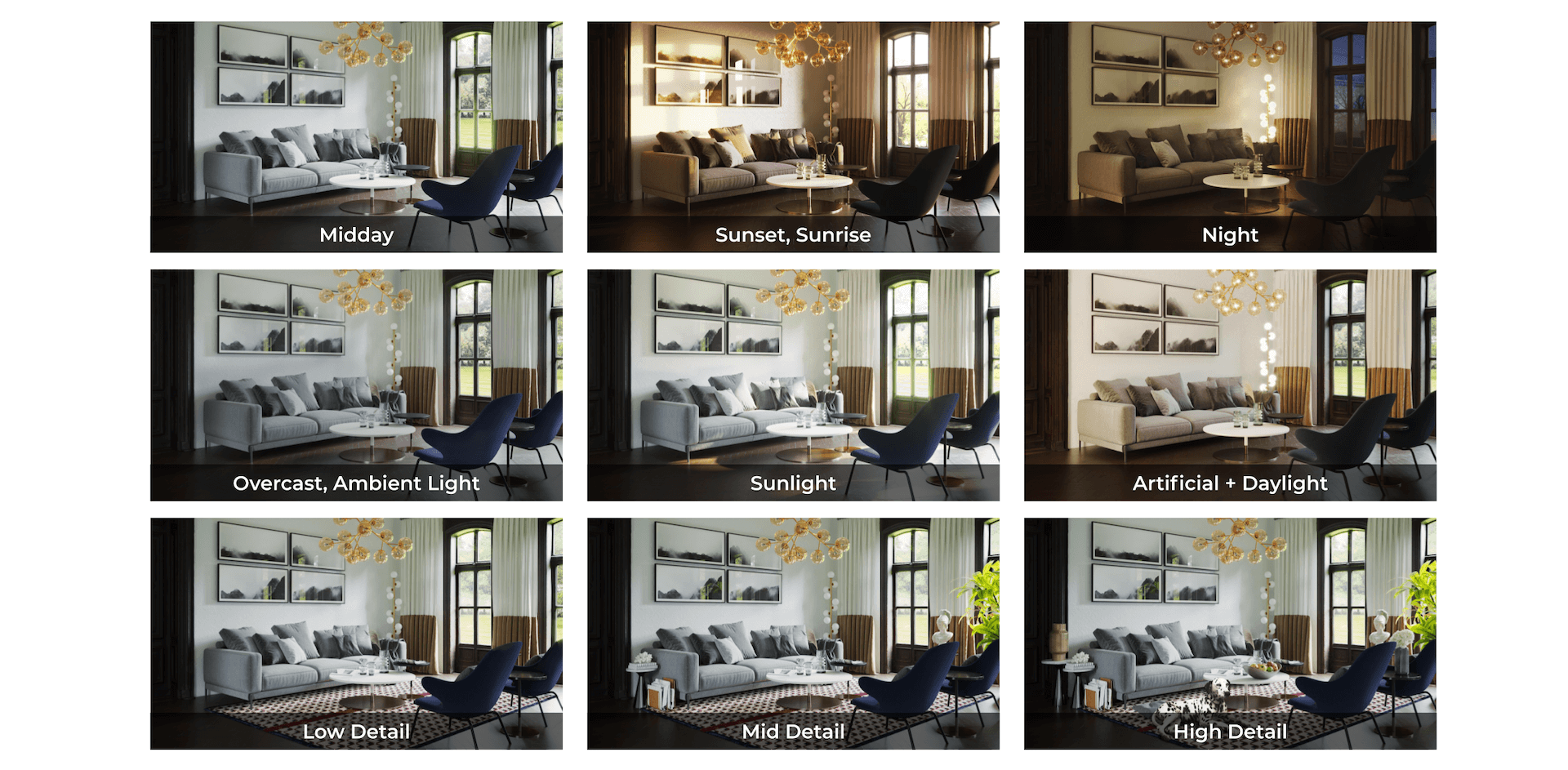 Interior Lighting and Atmosphere Options