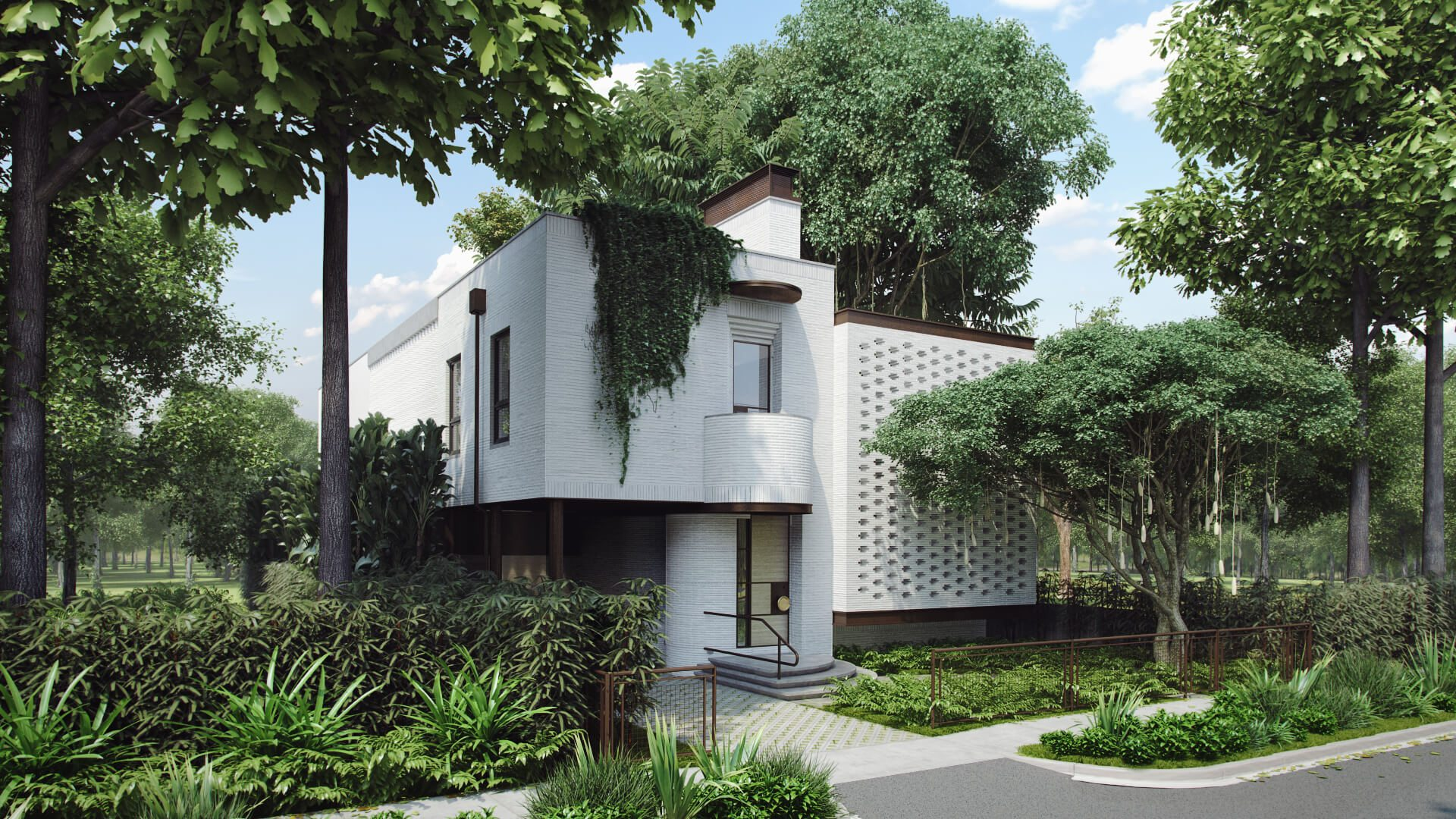 3D Visualization for Environmentally Friendly House Concept