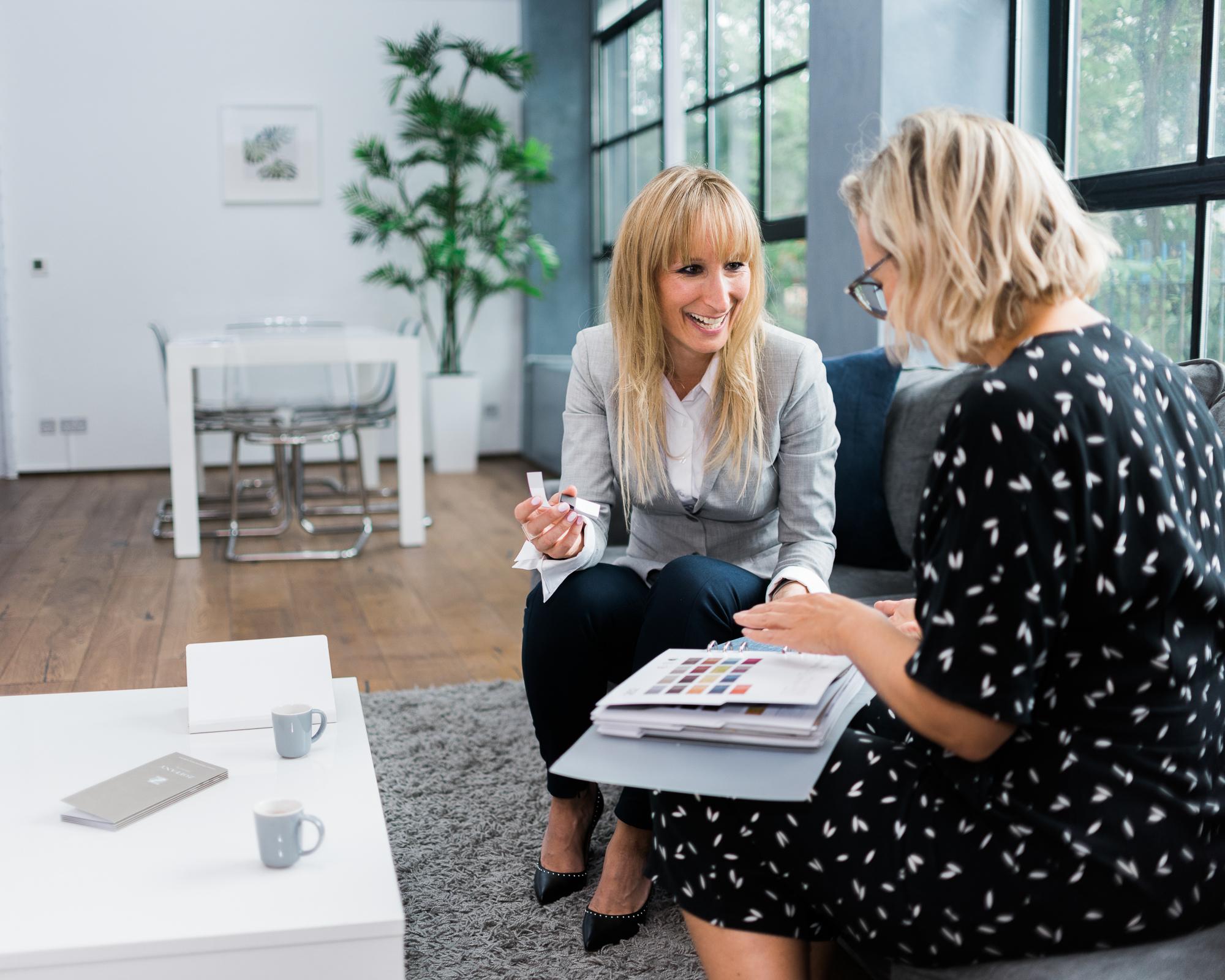 Jo Chrobak Consulting a Client