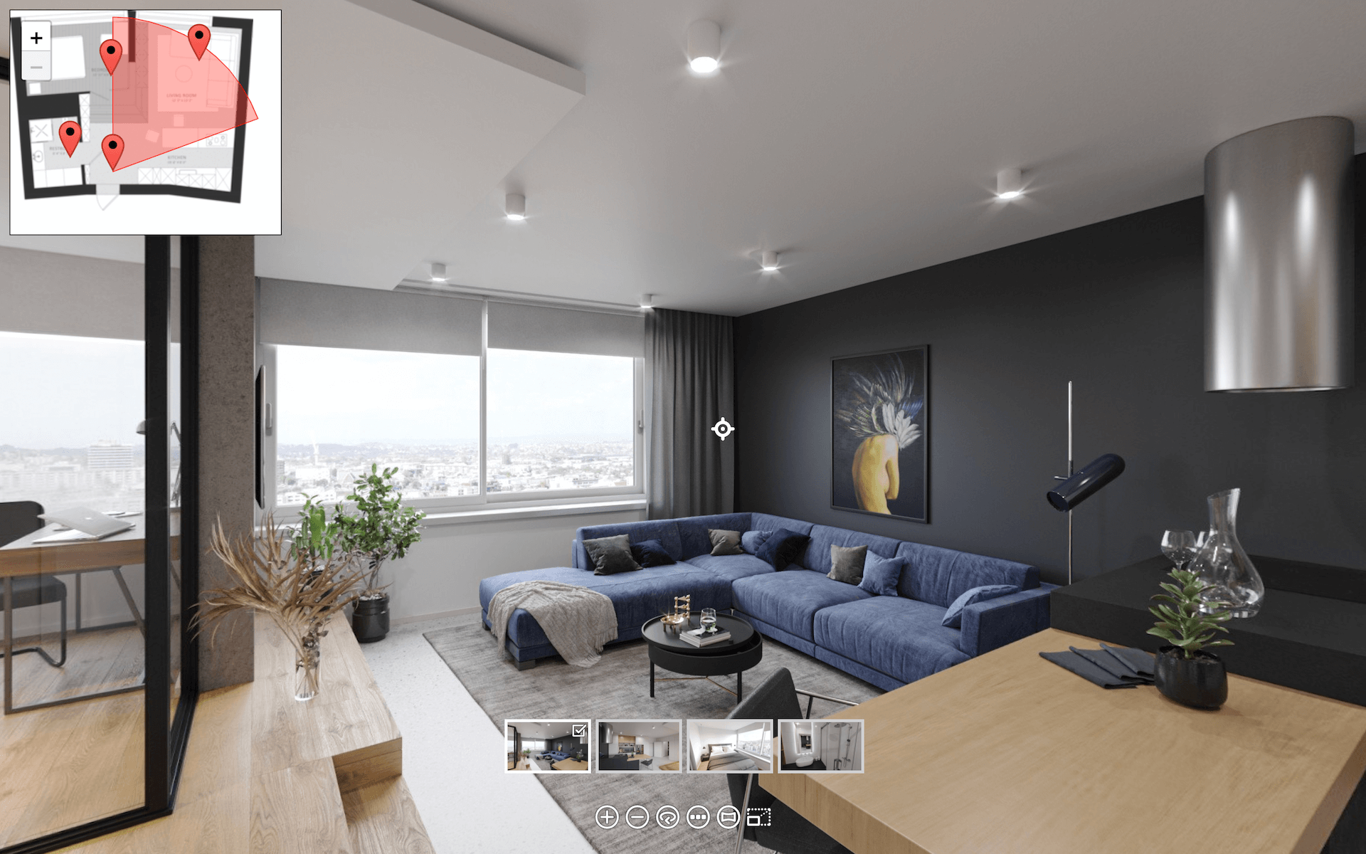 Interactive 3D Virtual Tour of a Stylish Apartment