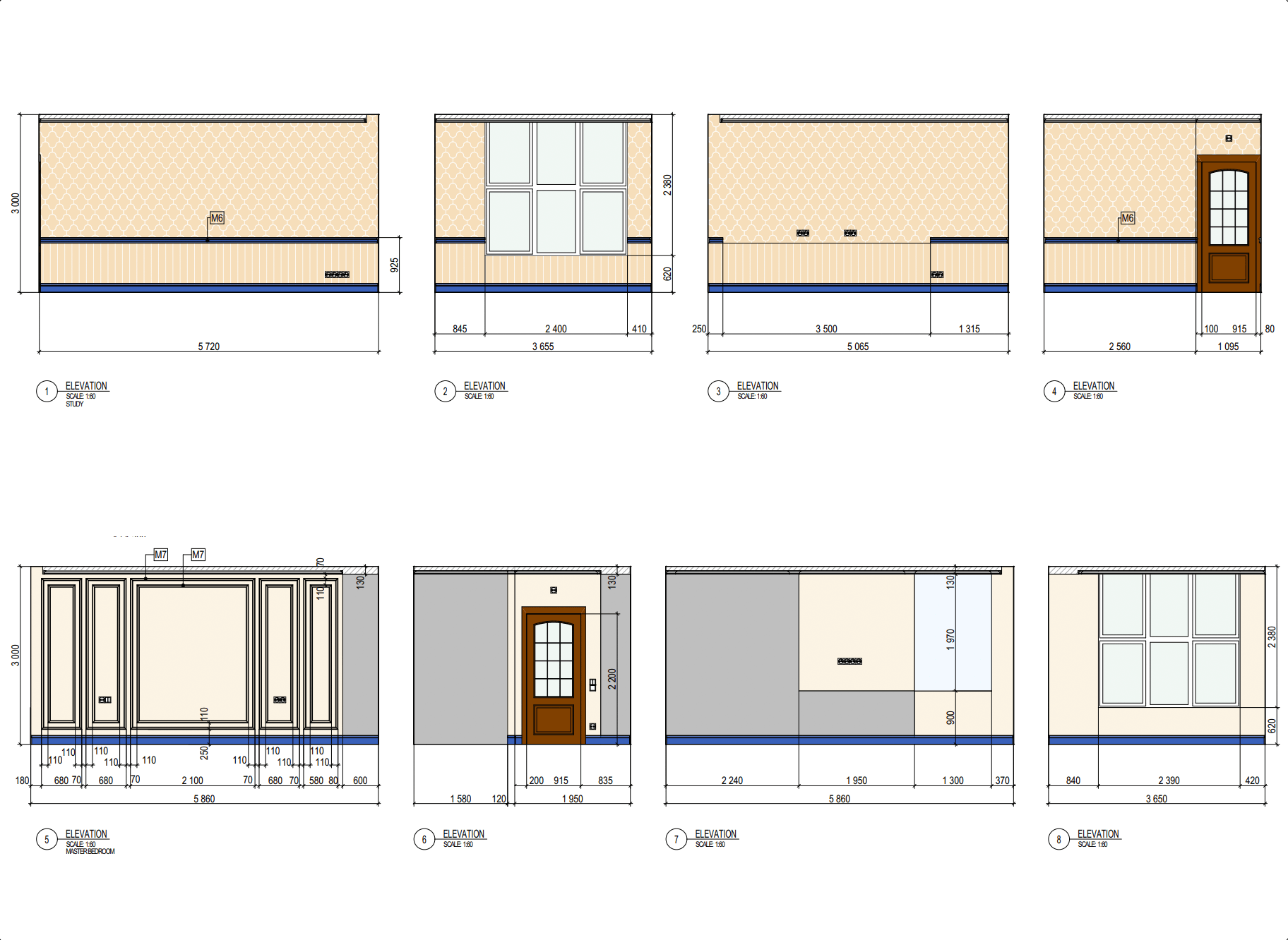 Wall Elevations for 3D Visualization