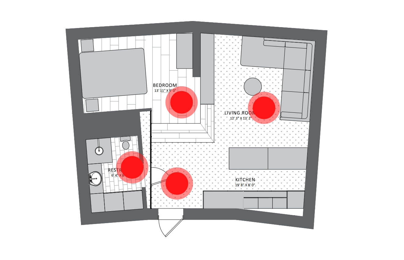 Floor Plan with Hotspot Preferences